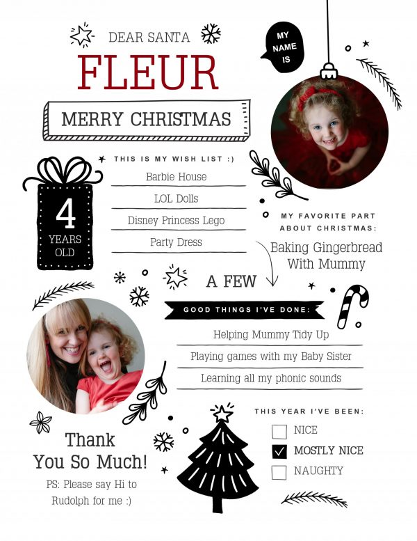 childrens christmas memory board digital download