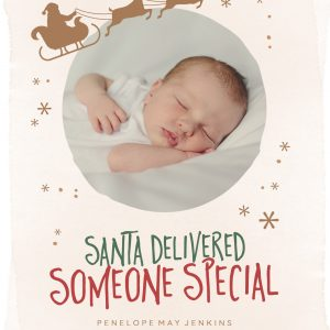 Newborn Christmas Annoucement Sign