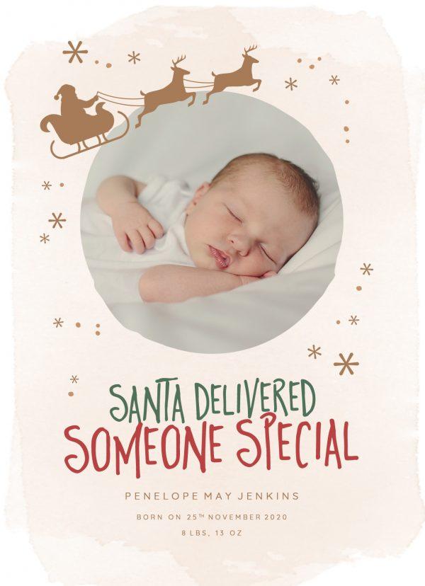 Newborn Christmas Annoucement Sign