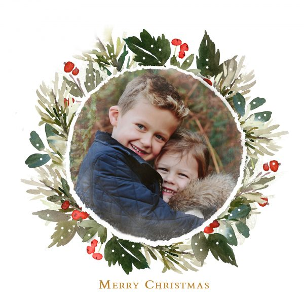 Free personalised Christmas card template